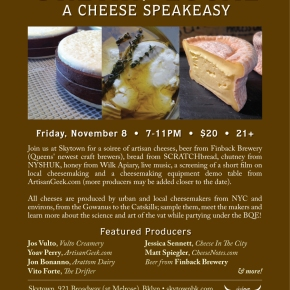 Urban/Local: A Cheese SpeakEasy. November 8th.